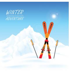 winter adventure conceptual vector image