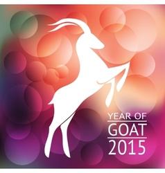 goat banner vector image vector image