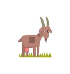 Goat Toy Farm Animal Cute Sticker vector image