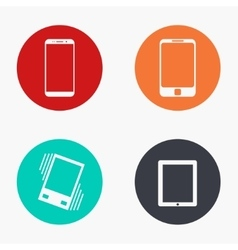 modern gadget colorful icons set vector image vector image