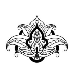 Persian floral design element vector image