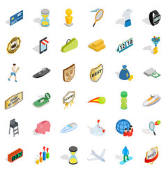 victory icons set isometric style vector image vector image
