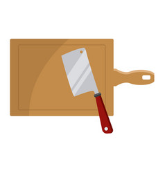axe and table kitchen utensils vector image