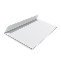 Blank envelope on white background vector image vector image