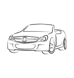 car cabriolet vector image vector image