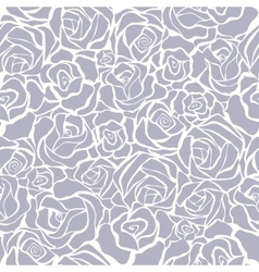 Seamless retro background with grey roses vector image vector image