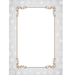 christmas gold frame vector image