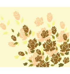 Rose flower on yellow background vector image