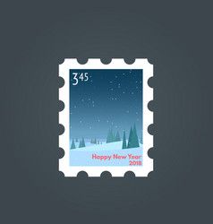 stamp happy new year vector image vector image