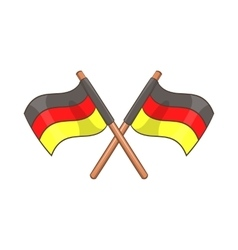 Two crossed flags of Germany icon cartoon style vector image