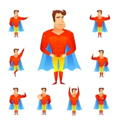 Superhero Avatar Set vector image