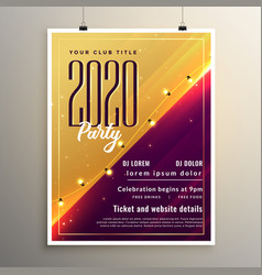 2020 new year stylish party flyer template design vector