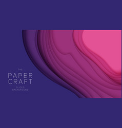 3d abstract background with paper cut neon vector image