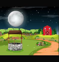 a rural house scene vector image