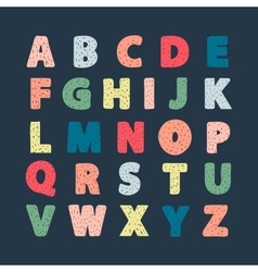Abstract alphabet vector