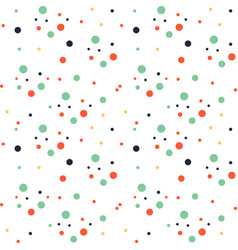 abstract colorful dots white pattern image vector image