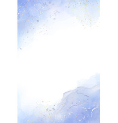 abstract dusty blue liquid watercolor background vector image