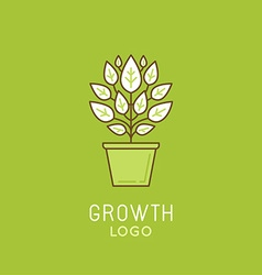 Abstract growth logo design element in trendy vector
