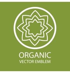 Abstract organic emblem vector