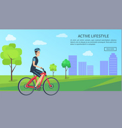 Active lifestyle web page text vector
