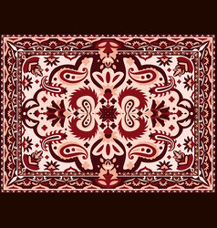 Arabesque carpet indian and persian rug vector