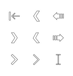 Arrows directions pointer arrow eps icons set vector