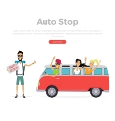 Autostop Concept on White vector image