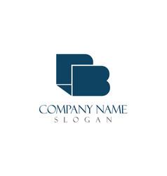 b elegant logo vector image