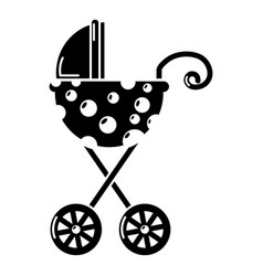 Baby carriage elegant icon simple black style vector