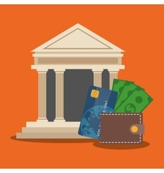 Bank shopping and ecommerce design vector