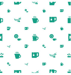 Bean icons pattern seamless white background vector