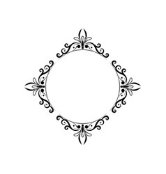 black round classic vintage frame vector image