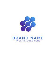 blob logo design vector image