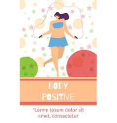body positive mobile oriented social vector image