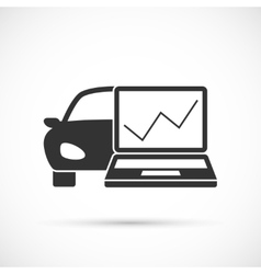 Car diagnostics icon vector image