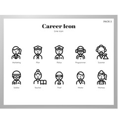 Career icons line pack vector