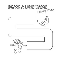 cartoon monkey coloring book game for kids vector image