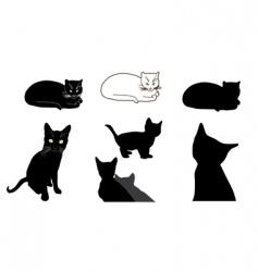 cat design elements vector image