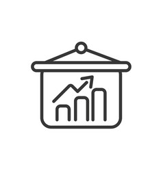 chart board finance bank money icon thick line vector image