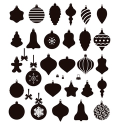 Christmas ball shapes vector