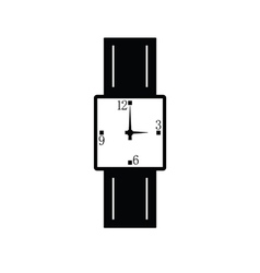 clock black vector image