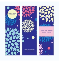 Colorful bursts vertical banners set pattern vector
