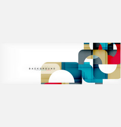 colorful squares composition abstract banner vector image