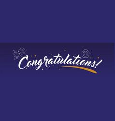 Congrats congratulations banner with glitter vector