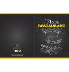 Cover Scetch horisontal menu design vector image