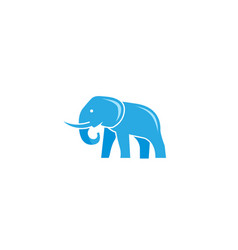 creative blue elephant logo vector image