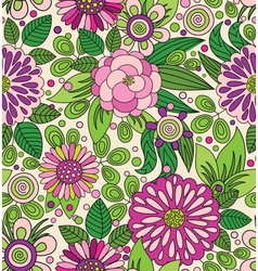 Decorative colourful picturesque seamless pattern vector image