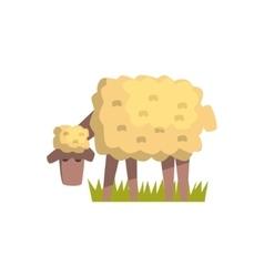 Dirty White Sheep Toy Farm Animal Cute Sticker vector