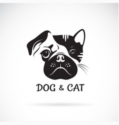 dog and cat face design on a white background pet vector image