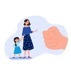 Domestic violence concept vector